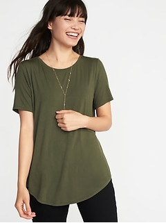 69017230cf7 Luxe Crew-Neck Tee for Women
