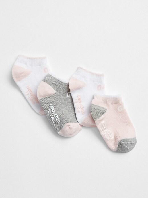 Toddler Gap Logo No-Show Socks (4-Pack)