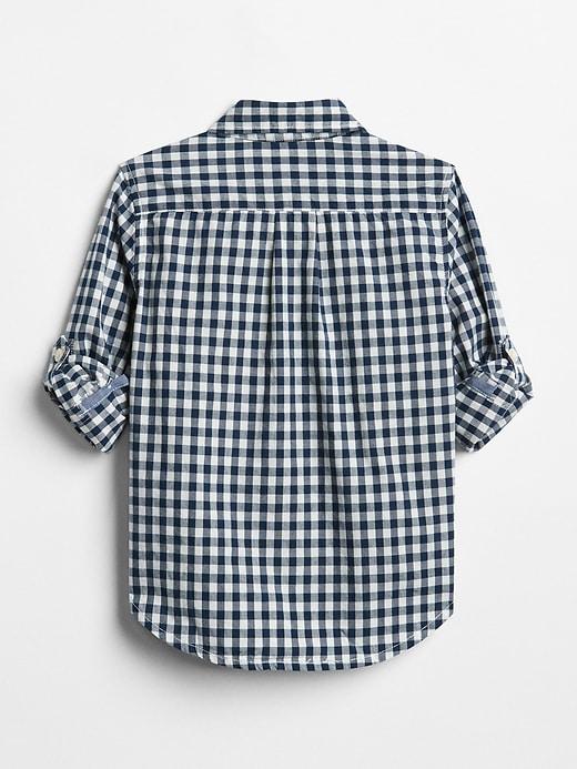 Toddler Gingham Convertible Shirt