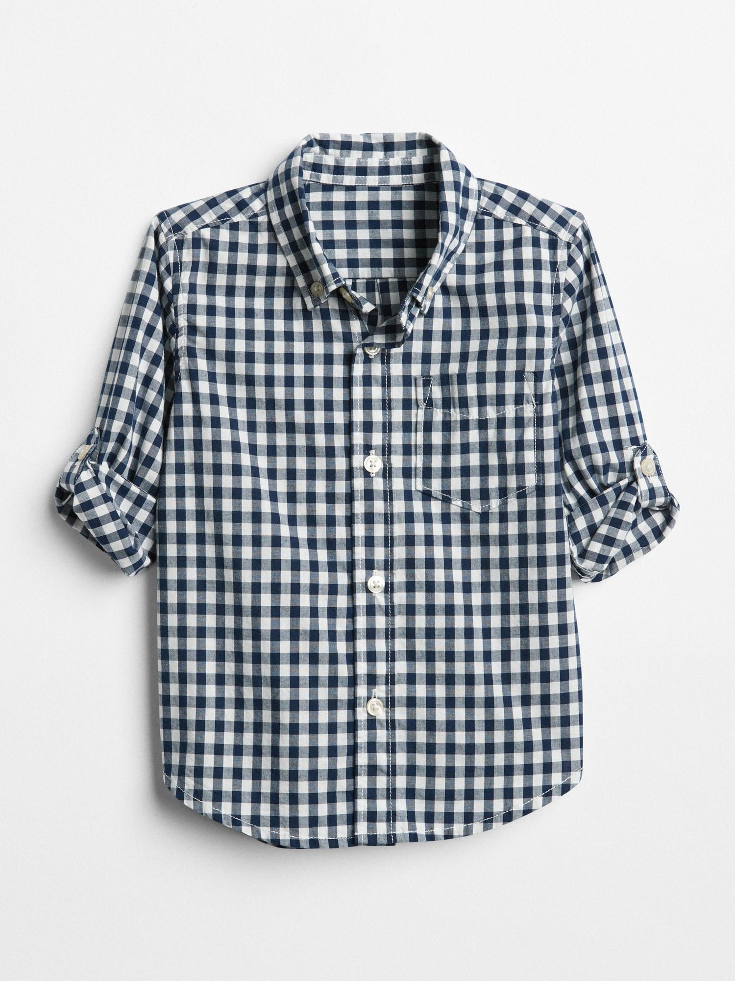 ギンガム コンバーチブルシャツ(幼児)
