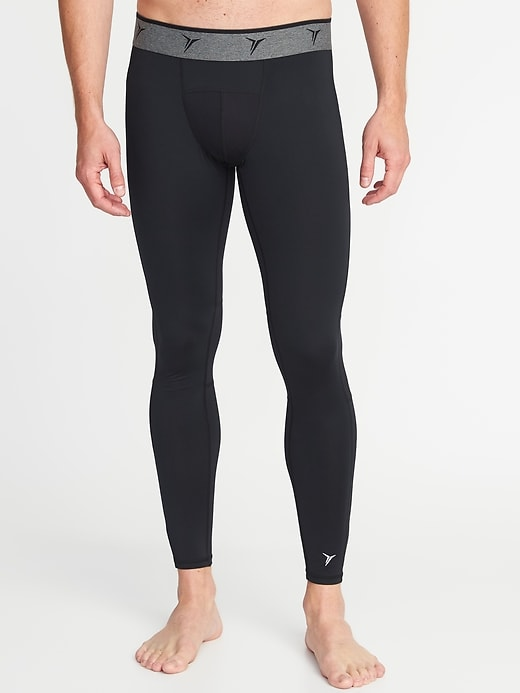 Go-Dry Built-In Flex Base-Layer Tights for Men