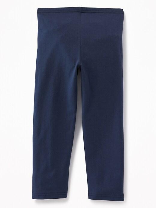 Short Crop Jersey Leggings for Girls