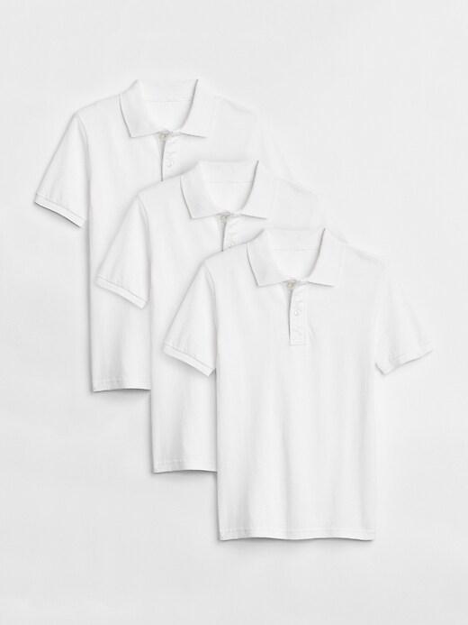 Kids Uniform Short Sleeve Polo Shirt (3-Pack)