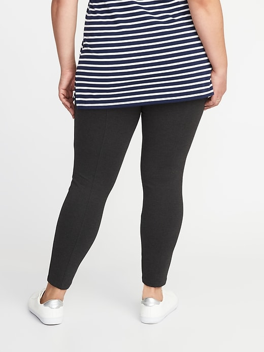 High-Waisted Plus-Size Ponte-Knit Stevie Pants