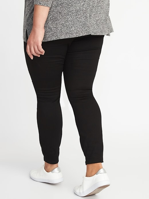 High-Waisted Plus-Size Rockstar Jeggings