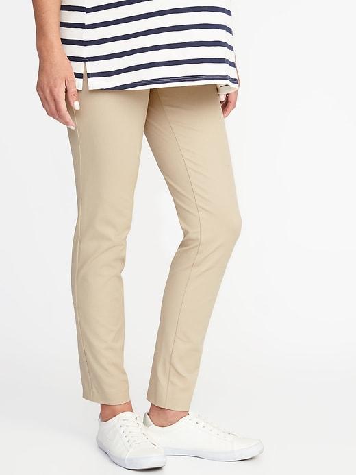 Maternity Side-Panel Full-Length Pixie Pants