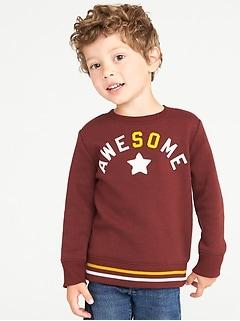 c3c7c6ac9cb5 Printed Crew-Neck Sweatshirt for Toddler Boys