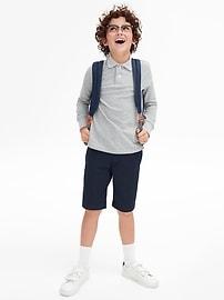 Kids Uniform Long Sleeve Polo Shirt