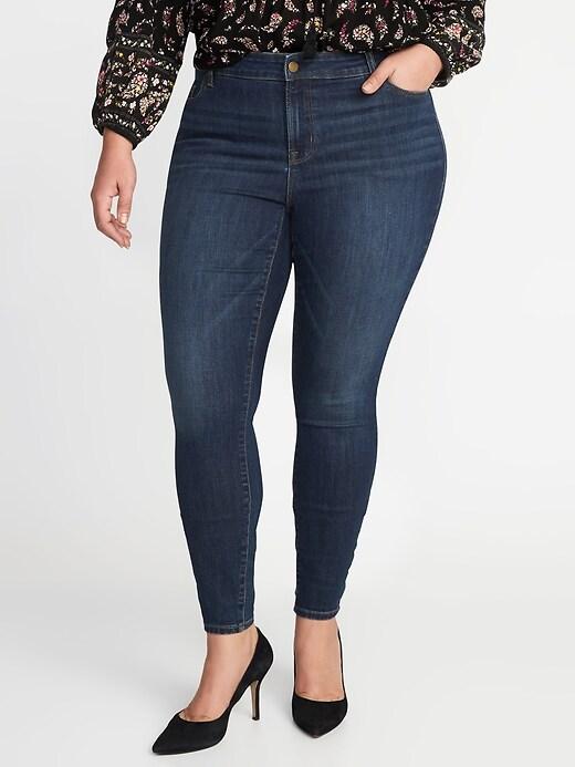 High-Waisted Plus-Size Rockstar Super Skinny Jeans