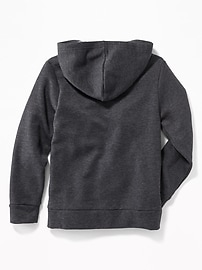 Logo-Graphic Zip Hoodie for Boys