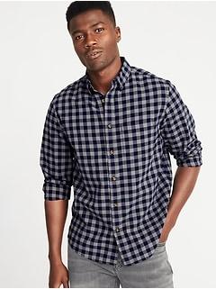 28df1a5319fb0 Regular-Fit Built-In Flex Everyday Oxford Shirt for Men