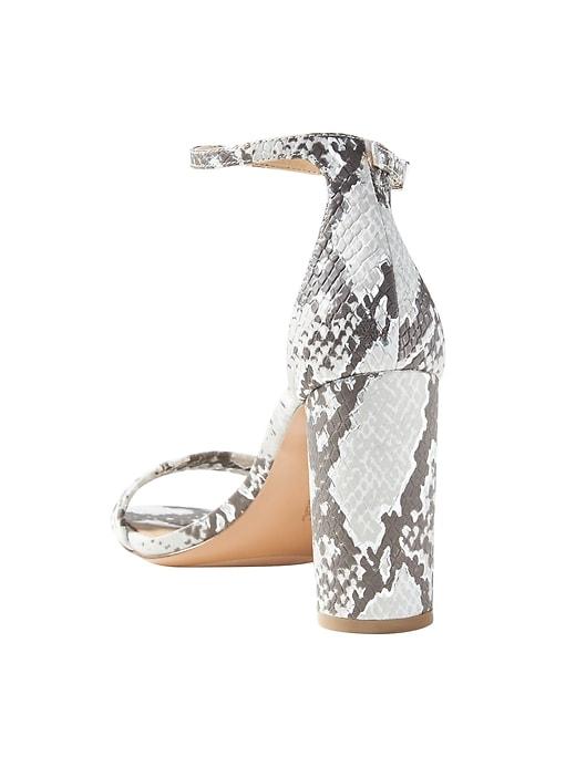 Bare High Block-Heel Print Sandal