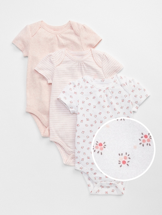 Baby First Favorite Floral Short Sleeve Bodysuit (3-Pack)
