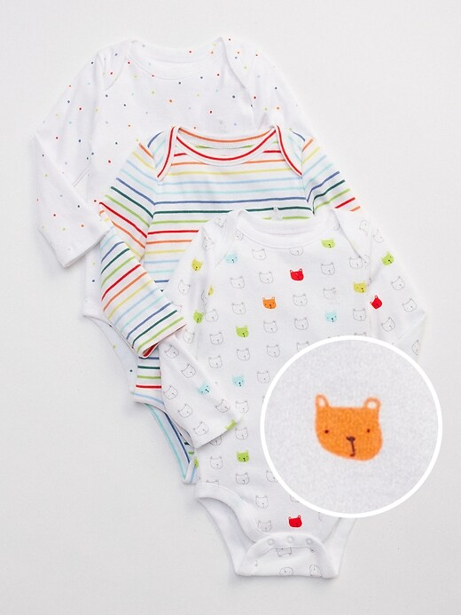 Baby First Favorite Long Sleeve Bodysuit (3-Pack)