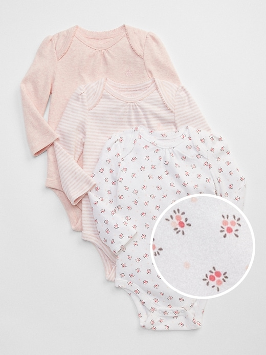 Baby First Favorite Floral Long Sleeve Bodysuit (3-Pack)