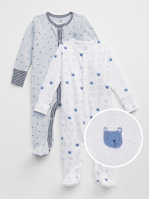 Baby First Favorite Bear Footed One-Piece (2-Pack)