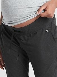 Maternity GapFit Drawstring Pants in Brushed Jersey