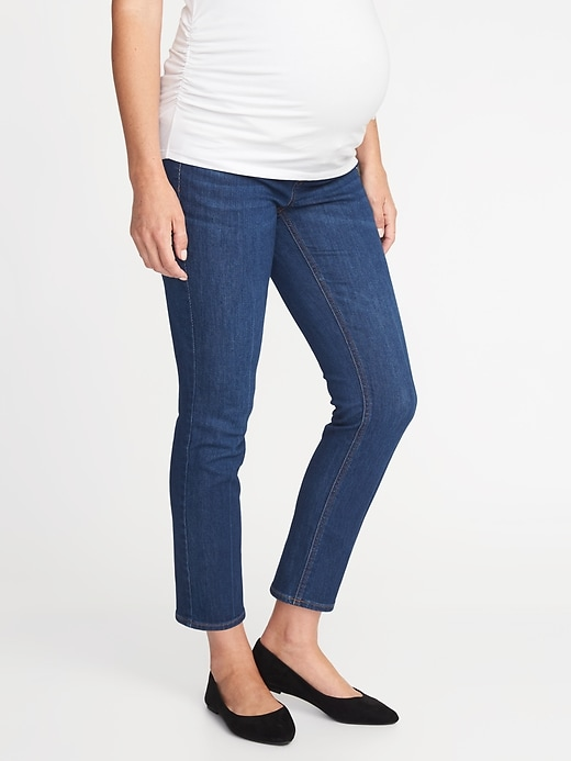 Maternity Premium Full-Panel The Power Jean, a.k.a. The Perfect Straight