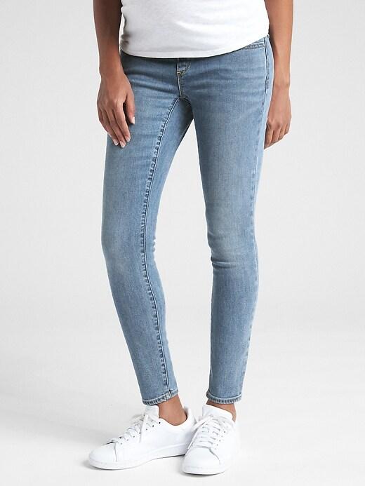 Maternity Soft Wear Demi Panel True Skinny Jeans
