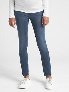 ff3bde5638ce7 Maternity Soft Wear Demi Panel True Skinny Jeans