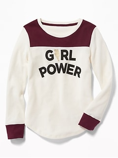 8e98c0284 Thermal Football-Style Tee for Girls