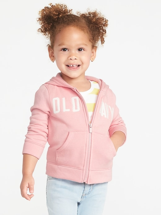 Logo-Graphic Zip Hoodie for Toddler Girls