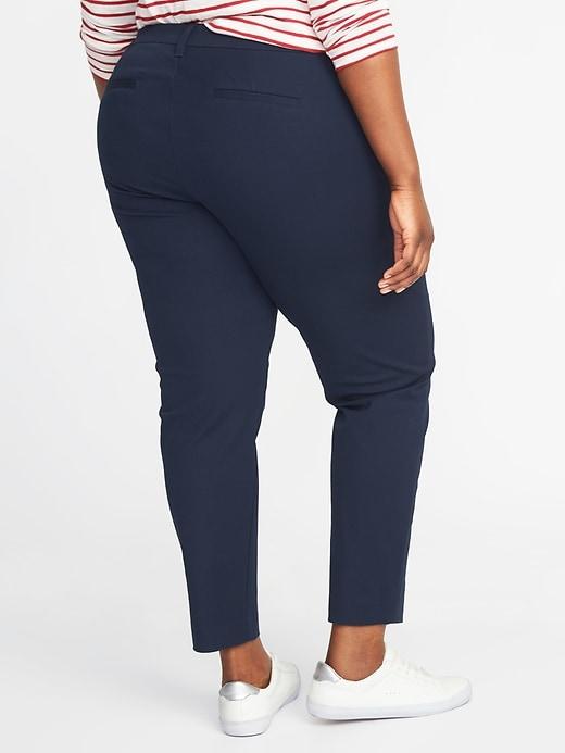 Pantalon Pixie à taille mi-haute, taille Plus