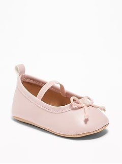 Faux-Leather Ballet Flats for Baby 447c097c6b68