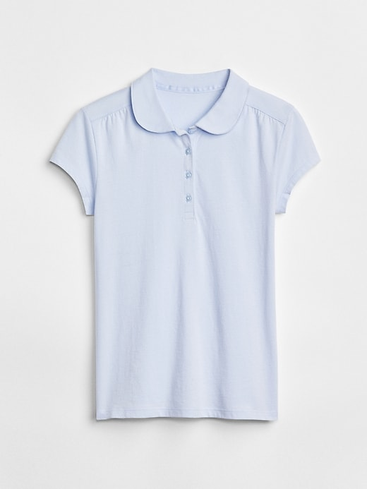 Kids Uniform Peter Pan Short Sleeve Polo Shirt