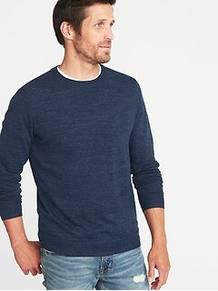 da469faa73c Heathered Crew-Neck Sweater for Men