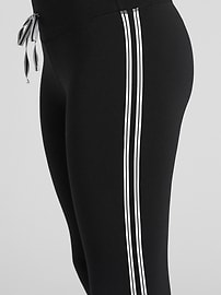 GapFit Blackout Drawcord Side-Stripe 7/8 Leggings