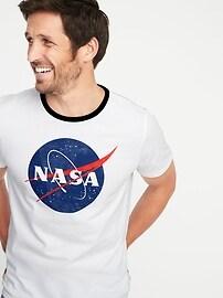 T-shirt à imprimé NASAMD pour homme