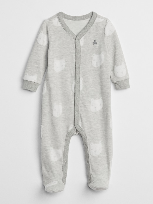 First Favorite Brannan Bear Footed One-Piece