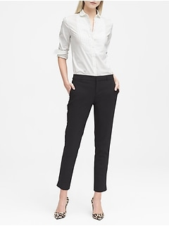 d760423a6013a0 Avery Straight-Fit Lightweight Wool Ankle Pant