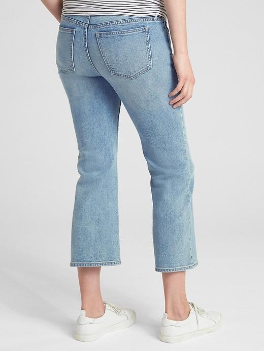 Maternity Full Panel Crop Kick Jeans