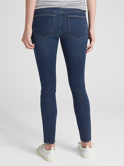 Maternity Soft Wear Comfort Panel True Skinny Jeans