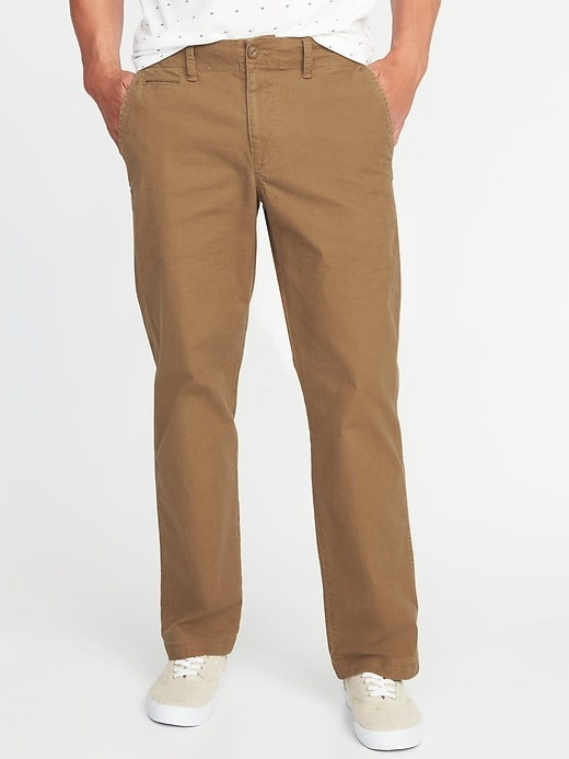 Loose Lived-In Built-In Flex Khakis for Men