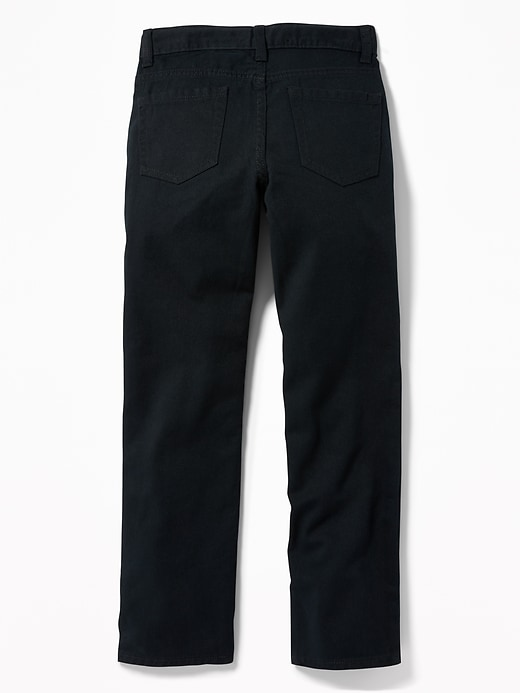 Straight Non-Stretch Five-Pocket Pants for Boys