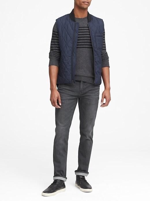 Slim Rapid Movement Denim Gray Wash Jean