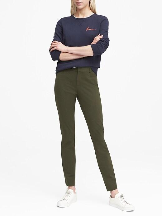 Petite Sloan Skinny-Fit Brushed Pant