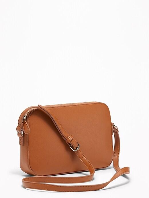 Faux-Leather Cross-Body Bag for Women
