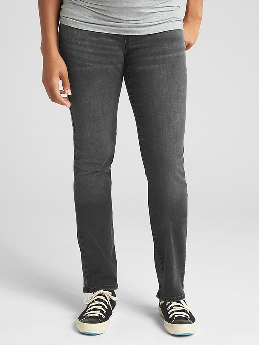 Maternity Full Panel Classic Straight Jeans