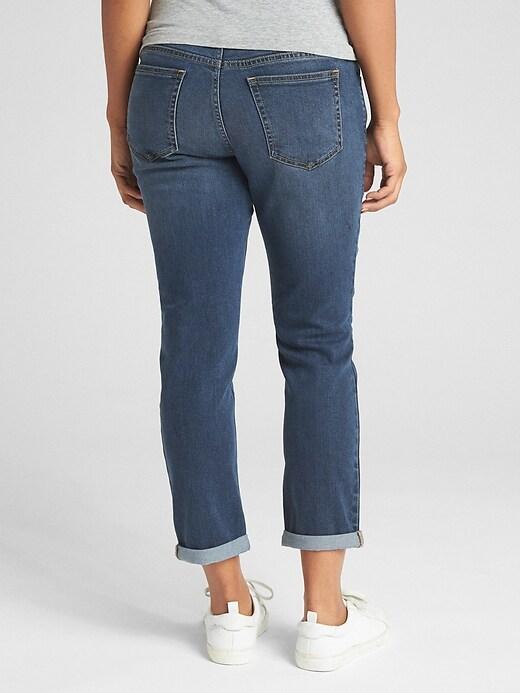 Maternity Soft Wear Demi Panel Girlfriend Jeans