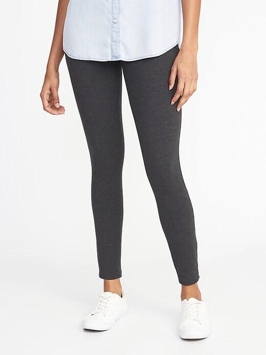 Legging en jersey à taille élastique pour femme