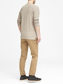 Waffle-Knit Henley Thermal T-Shirt