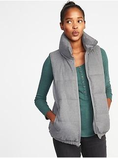 e6232e93d24 Textured Frost-Free Puffer Vest for Women