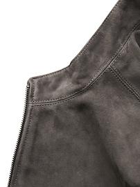 Slim Suede Moto Bomber Jacket