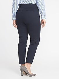 High-Waisted Side-Zip Plus-Size Pants