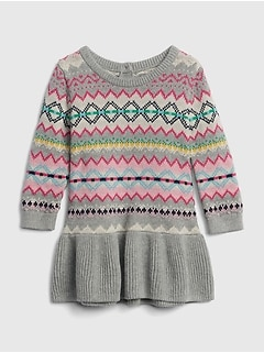 fair isle peplum sweater