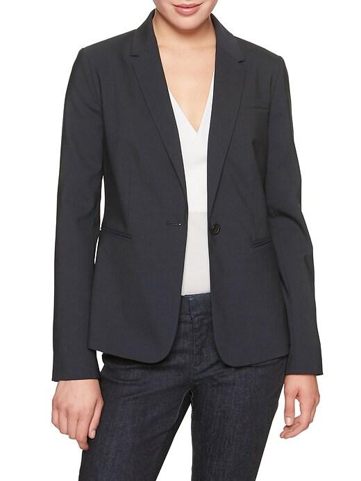 Washable Lightweight Wool Classic Suit Blazer